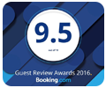 9.5/10 sur booking.com!